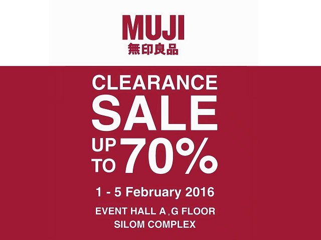 Clearance Sale up to 70% off (1 - 5 ก.พ. 2559)